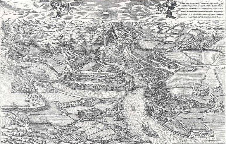 Die Landschaft um Steyr 1584 n.Chr. © unbekannt